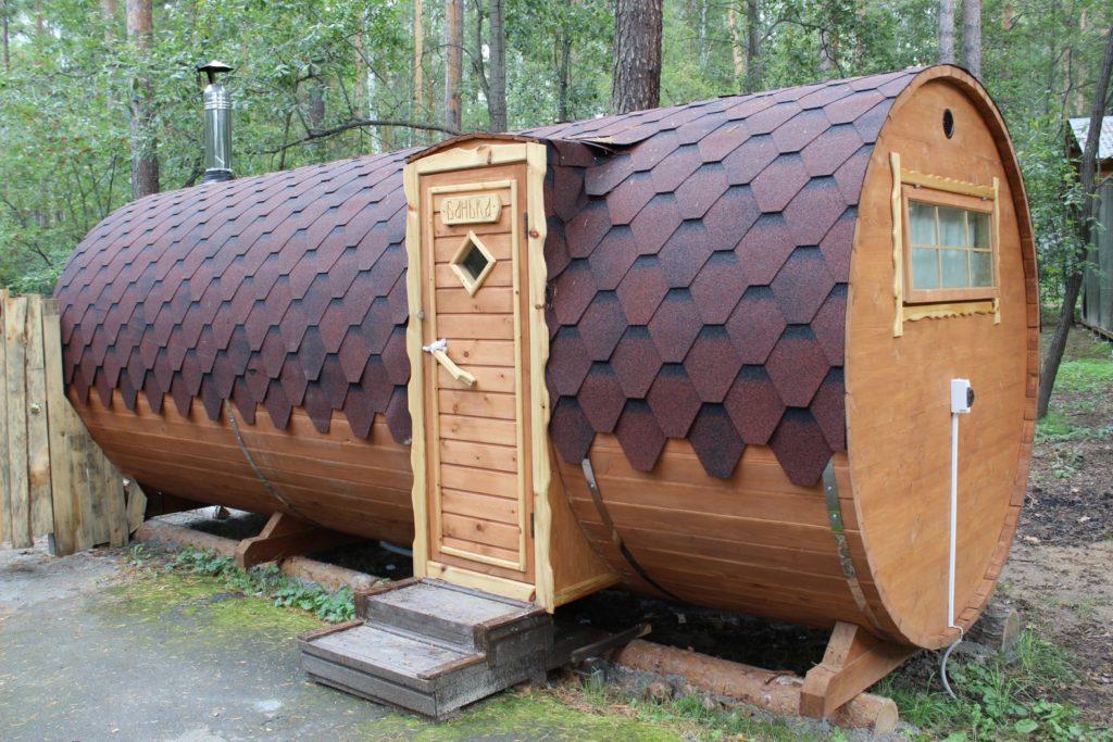 Баня бочка в лесу в Смоленске