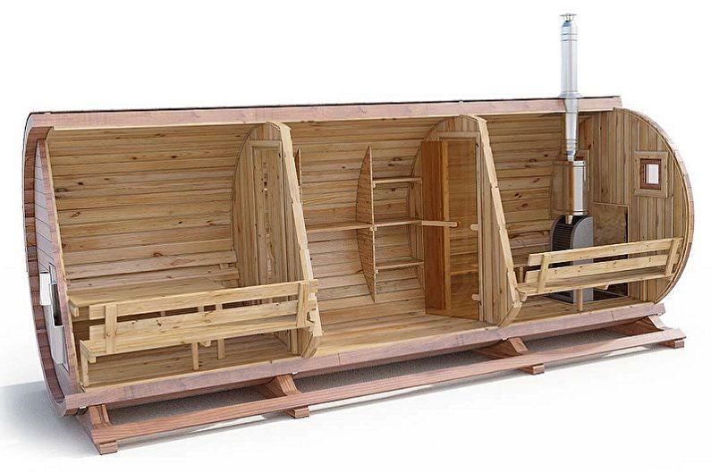 Баня бочка дизайн проект в Смоленске
