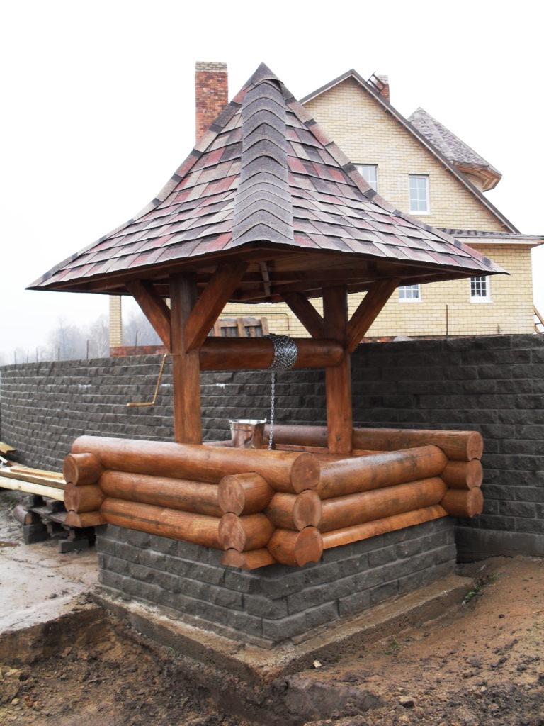 Деревянный колодец из бруса в Смоленске купить